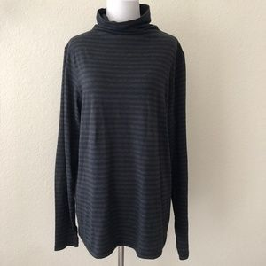 Cabi Odyssey Turtleneck Striped Top XL 3225